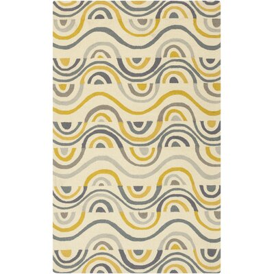 Aura Beige/Gold Indoor/Outdoor Area Rug Rug Size: Rectangle 8 x 106