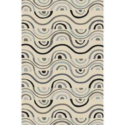 Aura Beige Indoor/Outdoor Area Rug Rug Size: Rectangle 5 x 76