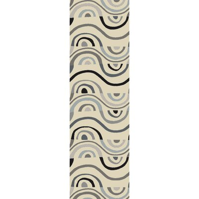 Aura Beige Indoor/Outdoor Area Rug Rug Size: Runner 26 x 8