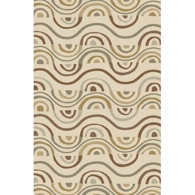 Aura Beige Indoor/Outdoor Area Rug Rug Size: Rectangle 5 x 76