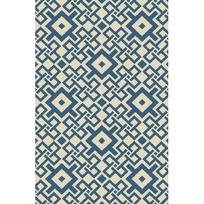 Aura Beige/Teal Indoor/Outdoor Area Rug Rug Size: Rectangle 5' x 7'6