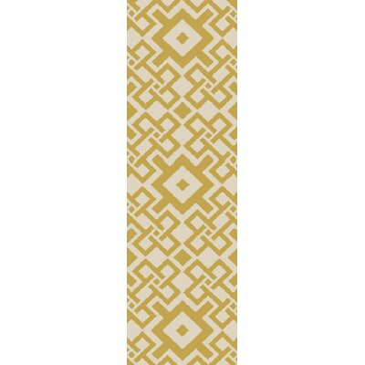 Aura Butter/Ivory Indoor/Outdoor Area Rug Rug Size: Runner 2'6