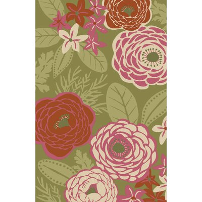 Roxie Green/Pink Indoor/Outdoor Area Rug Rug Size: Rectangle 5' x 7'6