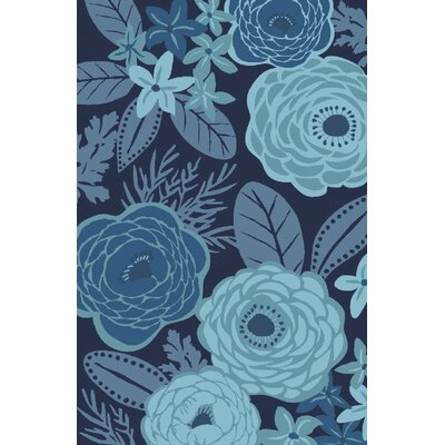 Aura Blue Indoor/Outdoor Area Rug Rug Size: Rectangle 8 x 106