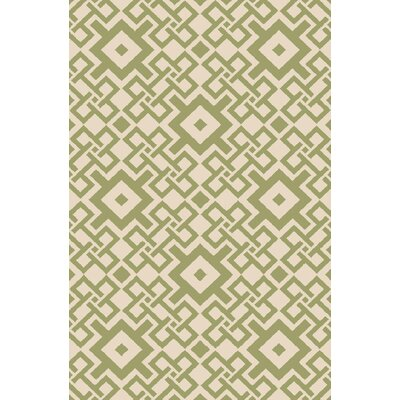 Aura Beige/Forest Indoor/Outdoor Area Rug Rug Size: Rectangle 8 x 106
