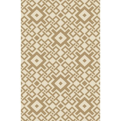 Aura Beige/Mocha Indoor/Outdoor Area Rug Rug Size: Rectangle 33 x 53