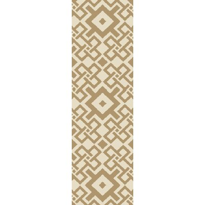 Aura Beige/Mocha Indoor/Outdoor Area Rug Rug Size: Runner 26 x 8