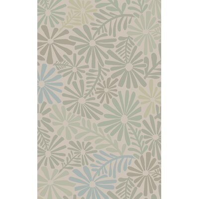 Alhambra Hand Tufted Wool Beige Area Rug Rug Size: Rectangle 8 x 11