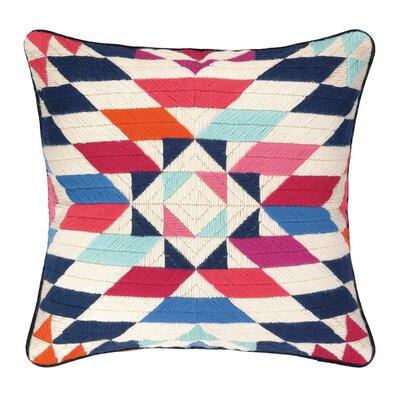 Kaleidoscope Bargello Needlepoint Wool Throw Pillow