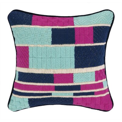 Geo Stripe Bargello Needlepoint Wool Throw Pillow