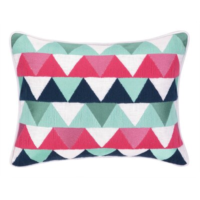 Triangles Embroidered Needlepoint Throw Pillow