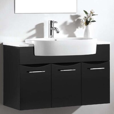 European 15 Single Vanity Set with Mirror