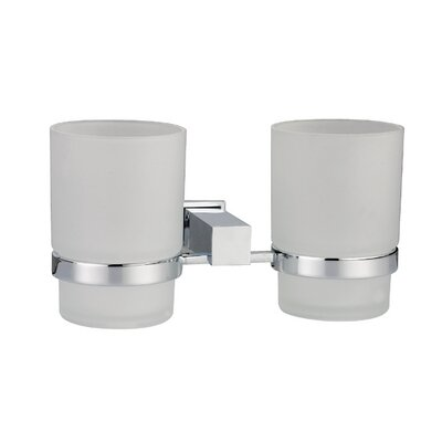 Square Series Tumblers and Tumbler Holder Finish: Satin Nickel