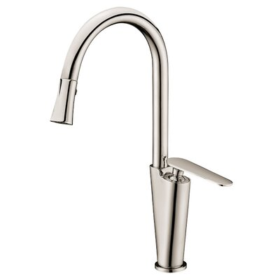 Single Lever Handle Kitchen Faucet Finish: Brushed Nickel