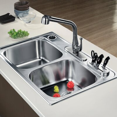 4 Piece Stainless Steel Knife Sink Set
