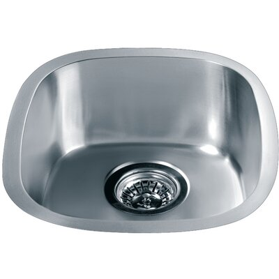 15.06 x 13.44 Under Mount Single Bowl Kitchen Sink