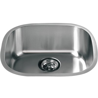 18.19 x 16.63 Under Mount Single Bowl Kitchen Sink