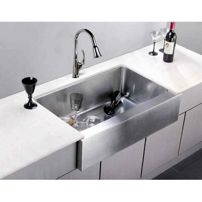 33 x 20.75 Under Mount Single Bowl Kitchen Sink