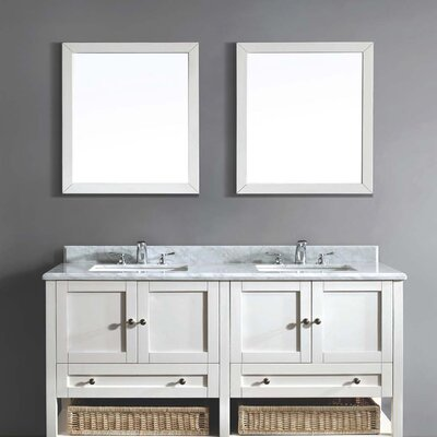 61 Double Vanity Set with Mirror