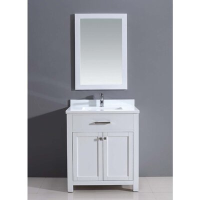 Milan 30 Single Vanity Set with Mirror