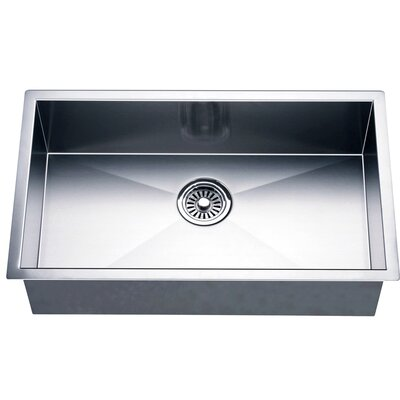26 x 18 Under Mount Single Bowl Square Kitchen Sink
