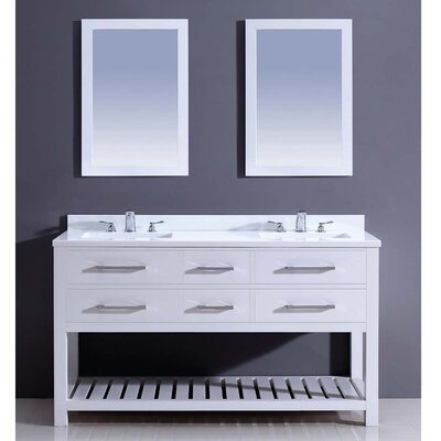 Bohemian 60 Double Vanity Set with Mirror