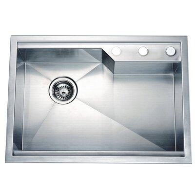 26.38 x 18.88 Dual Mount Square Single Bowl Kitchen Sink