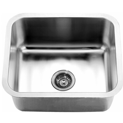 21.06 x 18.13 Under Mount Single Bowl Kitchen Sink