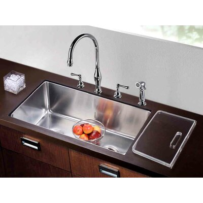 32 x 18.5 Undermount Single to Double Combination Bowl Kitchen Sink