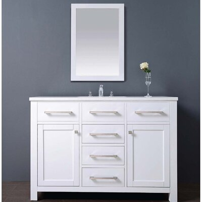 Milan 48 Single Vanity Set with Mirror
