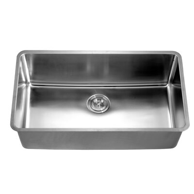 32 x 18.5 Under Mount Single Bowl Kitchen Sink