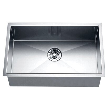26 x 18 Under Mount Square Single Bowl Kitchen Sink