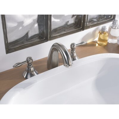 Double Handle Deck Mounted Faucet Finish: Brushed Nickel