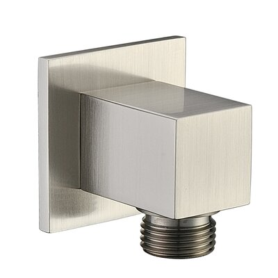Wall Mount Supply Elbow Finish: Brushed Nickel