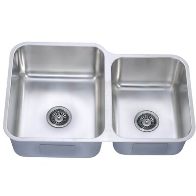 32 x 20.63 Under Mount Double Bowl Kitchen Sink