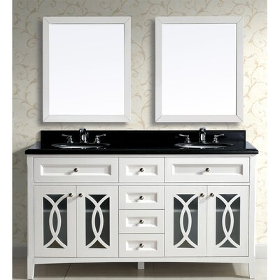 Modern 61 Double Vanity Set with Mirror
