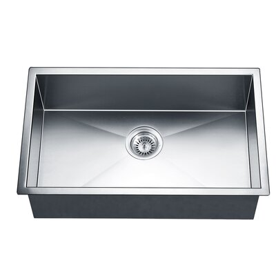 30 x 18 Under Mount Square Single Bowl Kitchen Sink