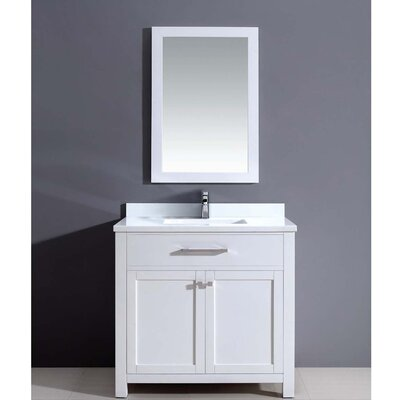 Milan 36 Single Vanity Set with Mirror