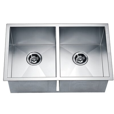 29 x 18 Under Mount Equal Double Square Kitchen Sink