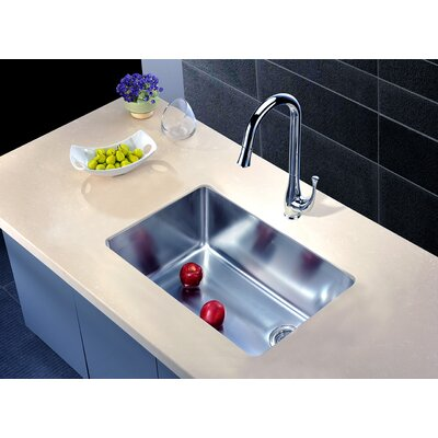 26.5 x 18 Under Mount Single Bowl Kitchen Sink