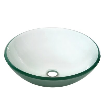 Tempered Glass Circular�Vessel�Bathroom�Sink Finish: Frosted