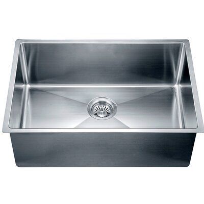 26.5 x 18 Under Mount Small Corner Radius Single Bowl Kitchen Sink
