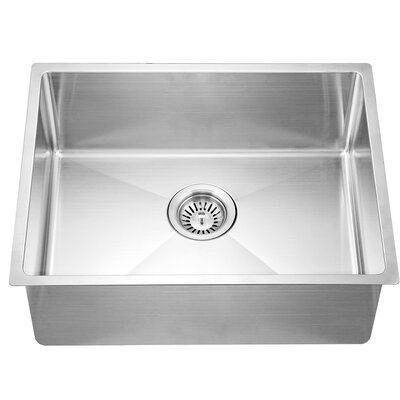 21.88 x 17.19 Under Mount Small Corner Radius Single Bowl Kitchen Sink