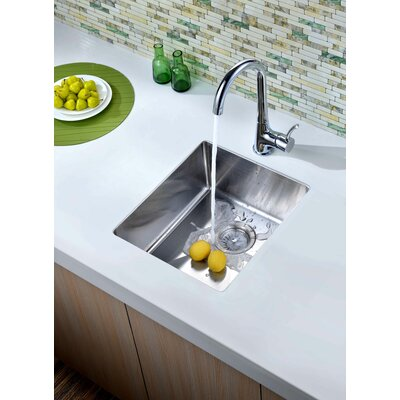 17.25 x 14.88 Under Mount Single Bowl Kitchen Sink