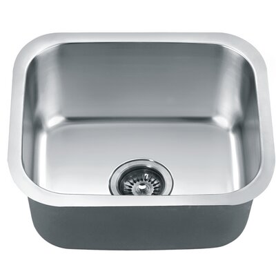 18.5 x 15.75 Under Mount Single Bowl Kitchen Sink