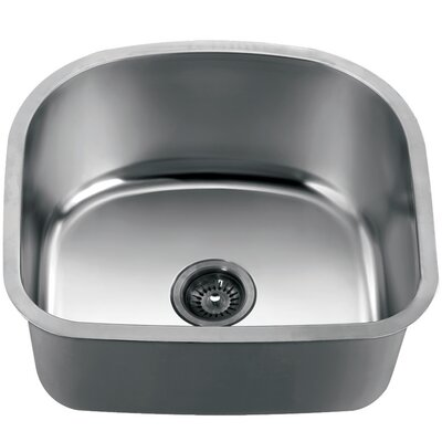 22 x 20 Under Mount Cresent Single Bowl Kitchen Sink