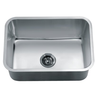 25 x 18.13 Under Mount Single Bowl Kitchen Sink