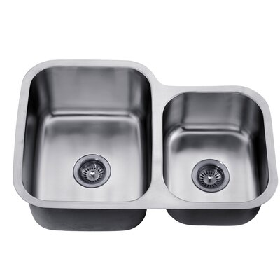 30 x 20.88 Under Mount Double Bowl Kitchen Sink