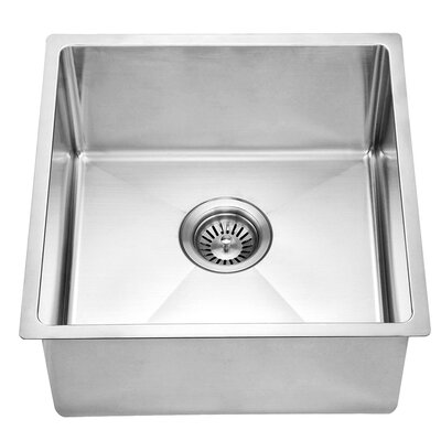 17.19 x 17.19 Under Mount Single Bowl Kitchen Sink