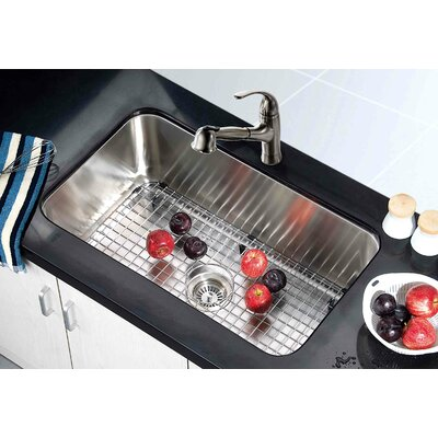 30.38 x 18.5 Under Mount Single Bowl Kitchen Sink